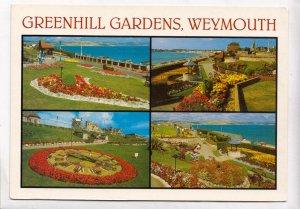 GREENHILL GARDENS, WEYMOUTH, used Postcard