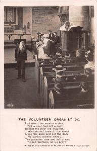 THE VOLUNTEER ORGANIST (4)~POEM BY W PAXTON~BAMFORTH REAL PHOTO POSTCARD