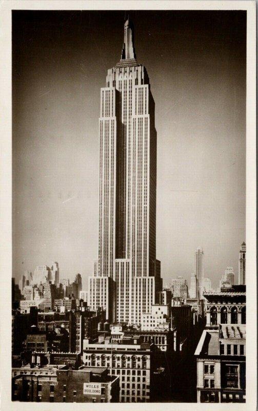 Empire State Building New York City NY Wills Building c1948 RPPC Postcard F37