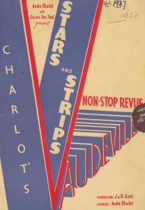 Stars & Strips RISQUE Douglas Byng Musical Vaudeville Theatre Programme