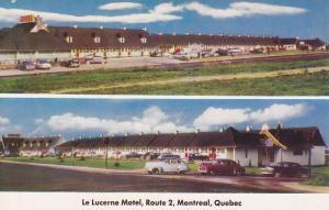2-views, Le Lucerne Motel, Route 2, Montreal, Quebec,  Canada, 40-60s