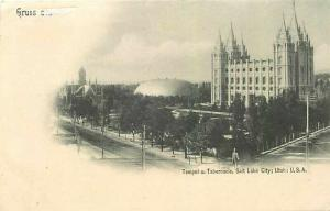 UT, Salt Lake City, Utah, Temple u. Tabernackle, Undivided Back