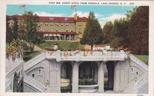 Fort William Henry Hotel From Pergola Lake George New York 1903 Curteich