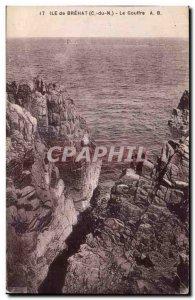 Old Postcard Ile de Brehat The Chasm
