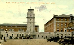 Canada - Saskatchewan, Moose Jaw. CPR Station from Main St