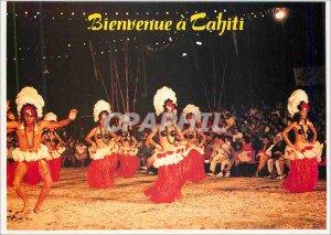 Modern Postcard Welcome to Tahiti Folk Dances Tahitinnes
