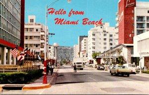 Florida Miami Beach Collins Avenue Looking North