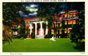 Virginia Marion Night Time Scene Of Marion College