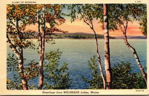Maine Greetings From Belgrade Lakes 1944 Curteich