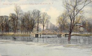 Rochester New York~Genesse Valley Park~Spring High Water~Bridge~Tower~1908 PC