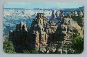 Rock Monoliths National Monument Rim Drive Royal Gorge Colorado CO Postcard
