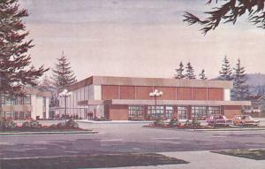 Exterior,  M.E. I. Gymnasium-Auditorium,  Clearbrook,  B.C.,   Canada,  40-60s