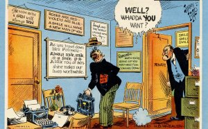 Humor - A Mutoscope Card. Well? Whadda YOU want?  Artist: Jimmy Hatlo
