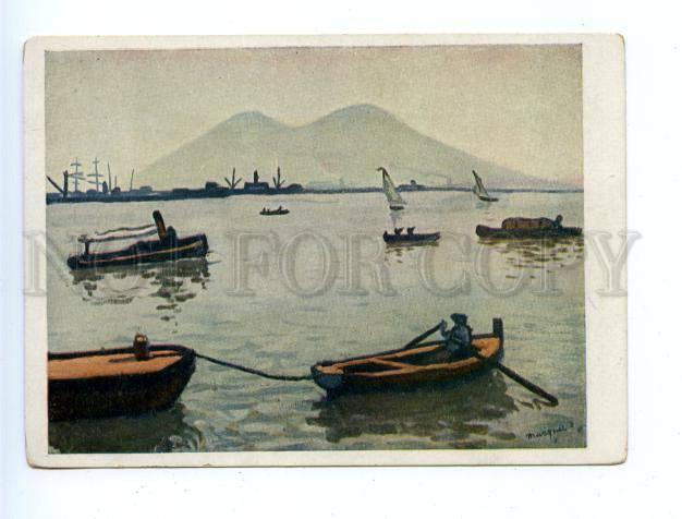 175863 Vesuvius by Albert MARQUET Vintage russian 1935 PC