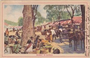 Indonesia Markt In Djocja Market Scene 1931