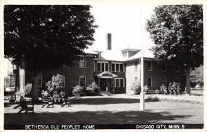 D96/ Chisago City Minnesota Mn Photo RPPC Postcard c50s Bethesda Old Folks Home