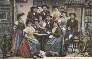 Germany Gruss Aus Dem Egerlande Locals In Traditional Costume 1909 sk4631