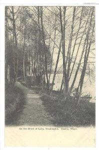 Path along shore of lake Wasington , Seattle , Wasington , Pre-1907