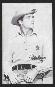 ARCADE CARD Cowboy Entertainer Peter Brown