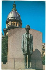 Abraham Lincoln Statue, Springfield, Illinois, 1960s unused