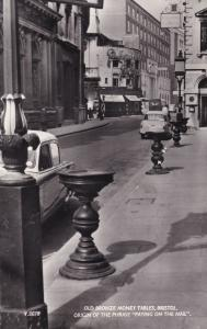 Bristol Somerset Avon bronze Money Legend Paying on the Nail Tables RP Postcard
