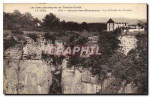 Old Postcard Jura Baume les Messieurs The Scales Crancot Cafe Restaurant
