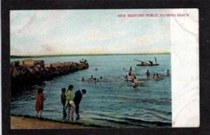 MA View Beach Bathing NEW BEDFORD MASS Postcard UDB Postcard Massachusetts