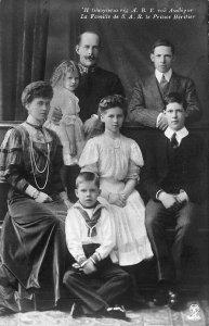 .La Famille De S. A. R. Le Prince Heritier Real Photo Postcard