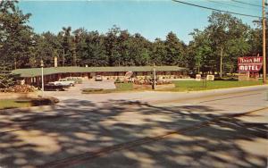 Traverse City Michigan~Briar Hill Motel~Patio on Courtyard~Classic Cars~1960s