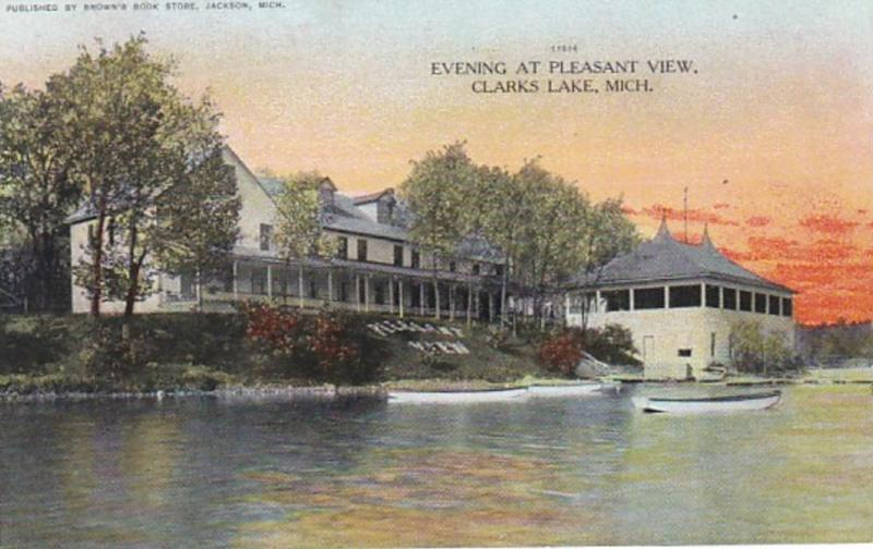 Michigan Clarks Lake Evening At Pleasant View