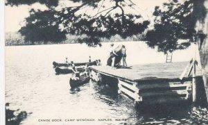 Maine Naples Canoe Dock Camp Wenonah Artvue