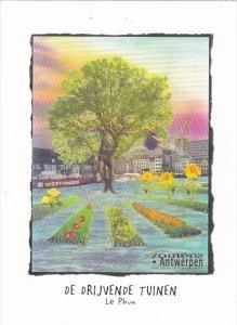 Belgium Zomer Van Antwerpen De Drijvende Tuinen