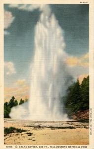 WY - Yellowstone National Park. Grand Geyser, Upper Basin    (Haynes)