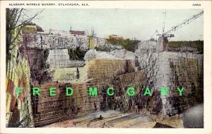 1912 Sylacauga Alabama PC: Marble Quarrying