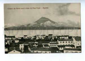 144749 PORTUGAL Azores ACORES Cidade da Horta com Pica Fayal