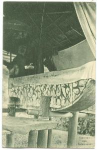 Indonesia, Grav van een Batak vorst, Tomb, used Postcard