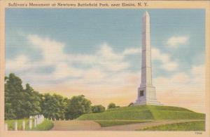 New York Elmira Sullivan's Monument At Newton Battlefield Park