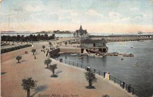 Boston Massachusetts~City Point~Victorians Stroll Boulevard~Boat House~1907 PC