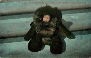 1909 AYP Exposition Postcard 5194 Raltugie Siberian Eskimo Baby in Sealskin Suit