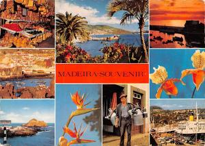 Portugal Old Vintage Antique Post Card Best Views Madeira 1969