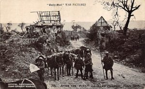 Military Post Card After the First Cavalry Charge 1919 Unused