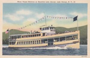 New York Lake George Motor Vessel Mohican On Lake George 1949 Curteich