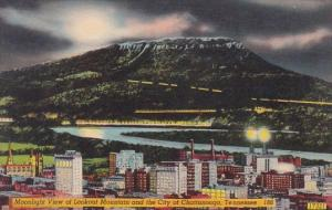 Moonlight View Of Lookout Mountain And The City Of Chattanooga Tennessee