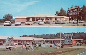 Sharpsburg North Carolina Bright Leaf Motel Multiview Vintage Postcard K55639