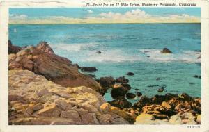 Point Joe 17 Mile Drive Monterey Peninsula California CA pm 1948 Postcard