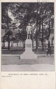 Monument Of Eben Brewer Erie Pennsylvania 1910