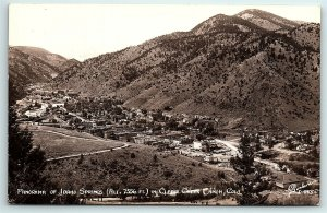 VTG Postcard RPPC Real Photo Idaho Springs CO Arial City View Sanborn Creek A5