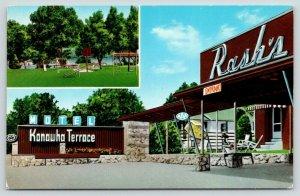Albans West Virginia~Rash's Kanawha Terrace Motel~Playground~Teeter Totter~c1950