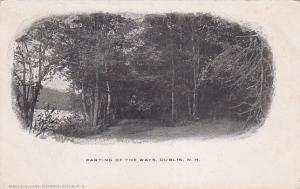 DUBLIN, New Hampshire, 1901-07; Parting Of The Ways, Lake