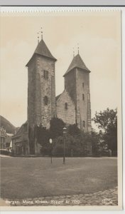 Norway; Bergen St. Mary's Church RP PPC by AS/FBP, Unused, Ex Booklet, c 1930's